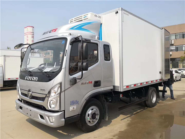 福田奥铃CTS冷藏车(排半)带卧铺长途冷藏车厂家直销直降8000元-15万左右冷藏车最强配置