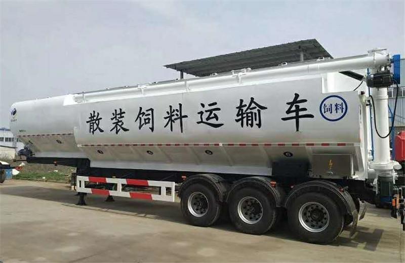 半挂散装饲料运输车-半挂散装饲料运输车价格