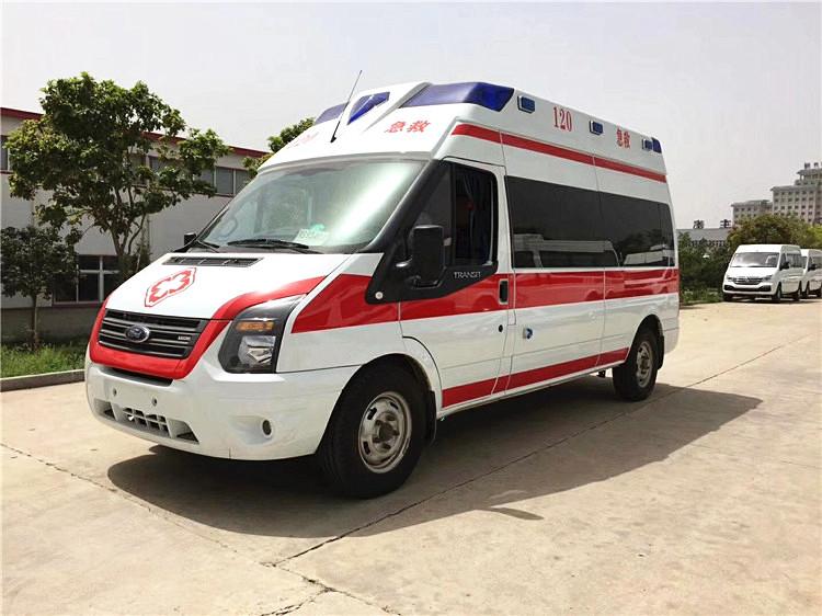 江铃福特新世代长轴中顶监护型救护车厂家直销