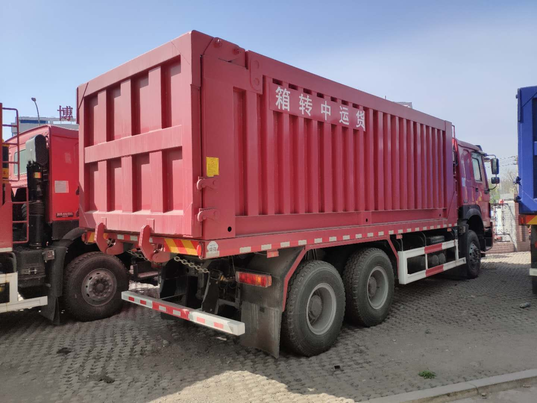 豪沃6米平板自卸车,带大箱,可做普通自卸