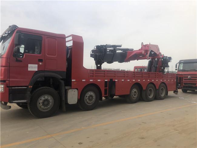 全国最大全折臂江威SQ2200在4米吊55吨江威随车吊