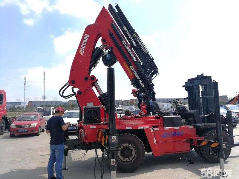 CCSQ800折臂叉车尾吊2米吊40吨