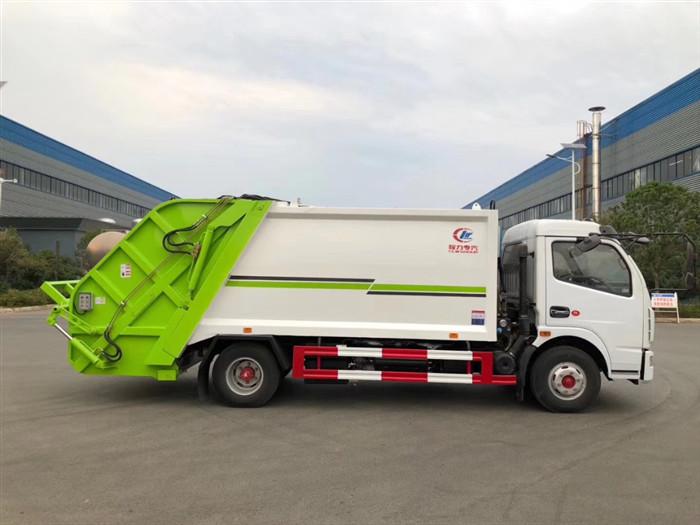 8方壓縮垃圾車價格_東風多利卡8方壓縮式垃圾車_東風壓縮垃圾車_價格_配置_圖片
