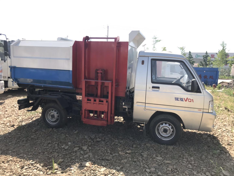 蓝牌4方自装卸式挂桶垃圾车多少钱?