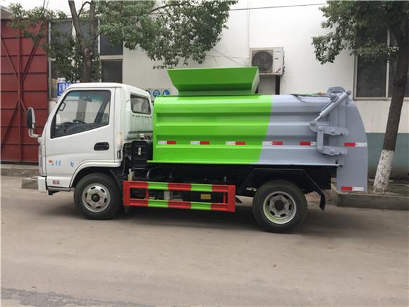 凱馬藍牌3方餐廚垃圾車 真正實現垃圾分類干濕分離 是城市的必需品