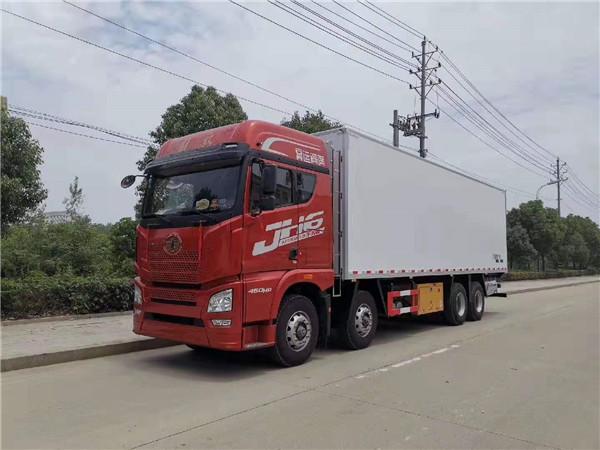 厂家直销解放JH6前四后八冷藏车配海柜平板机 冻货品冷藏车 保温车