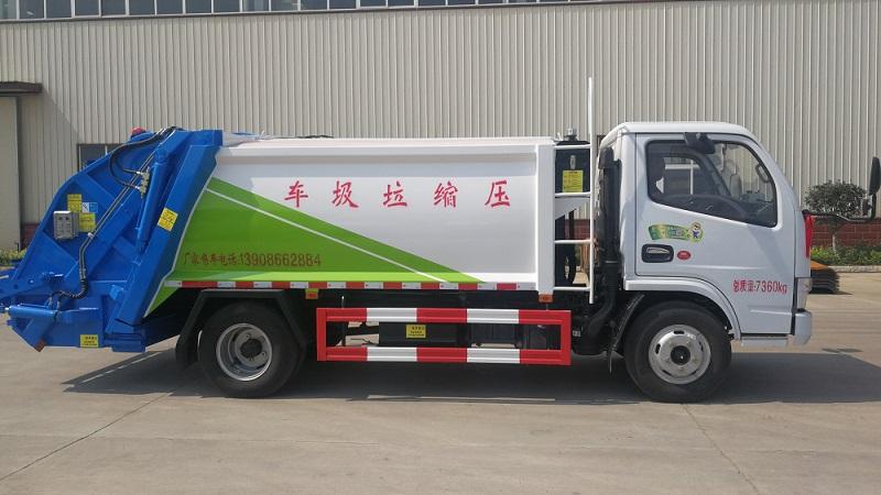 压缩式垃圾车厂家常用压缩式垃圾车配置价格