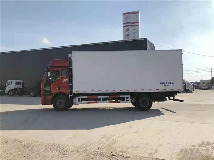 6米8解放J6L高頂雙臥冷藏車價格-解放冷藏車多少錢一輛