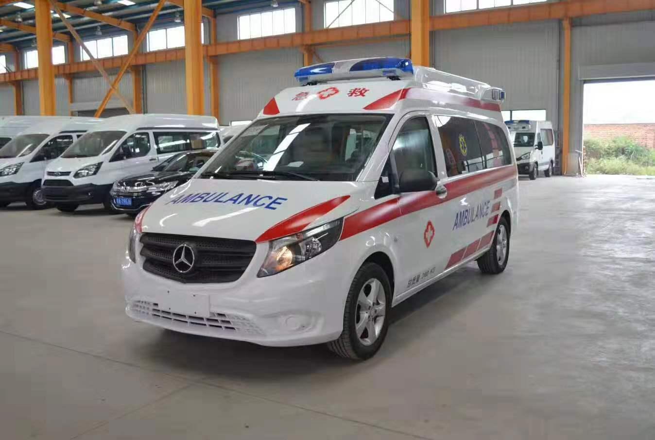 國六奔馳救護車廠家——國六奔馳威霆救護車