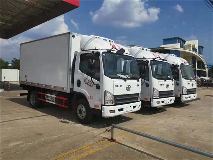 国六解放4米2冷藏车最新价格_解放国六冷藏车厂家_价格_配置_图片