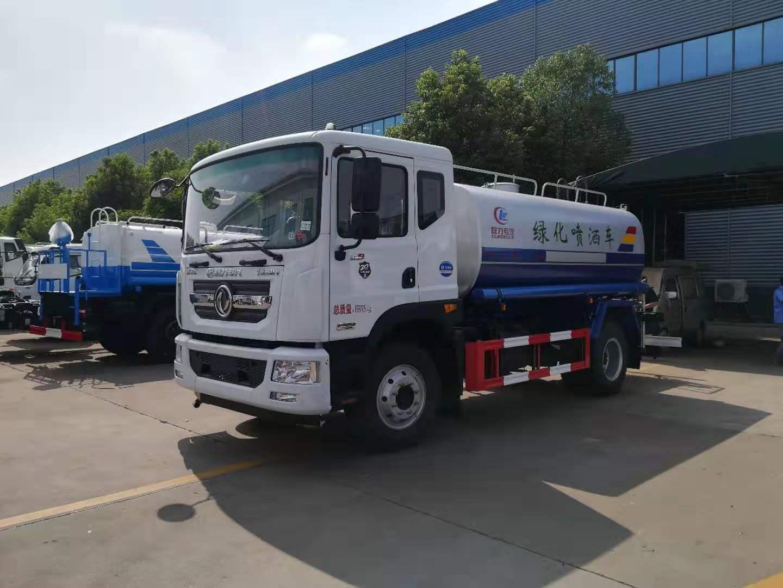 东风多利卡12方园林绿化喷洒车 12吨洒水车价格及图片