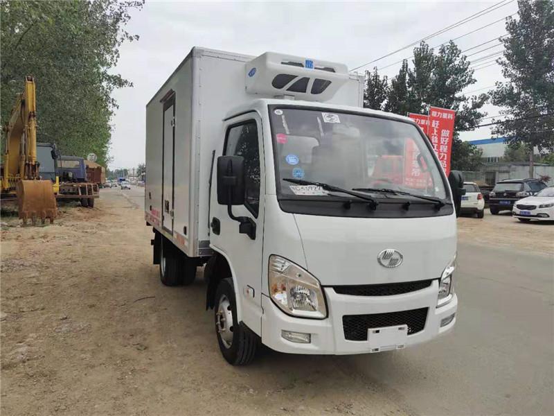 國六現車冷藏車有哪些品牌-上汽躍進小福星冷藏車價格-3.3米冷藏車現車多少錢一輛