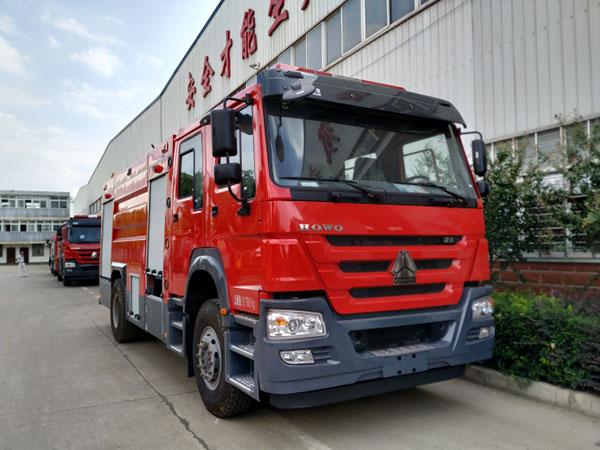 重汽8吨水罐消防车价格_报价_厂家