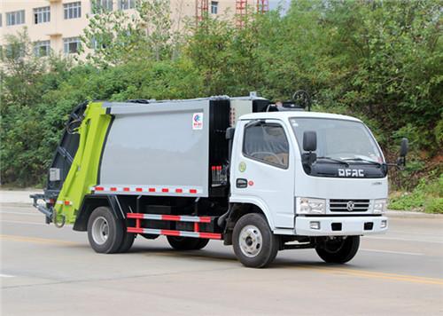 东风多利卡5吨压缩式垃圾车价格_多少钱