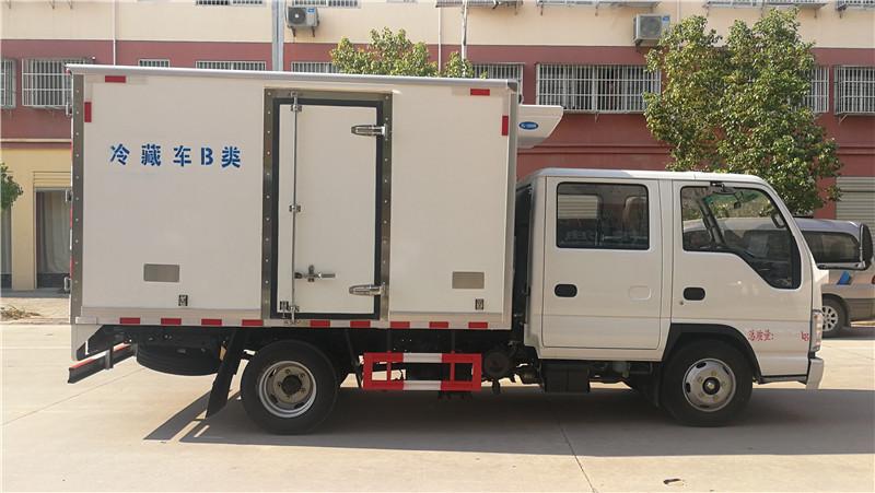 五十鈴國六冷藏車-五十鈴雙排國六3米2冷藏車價格