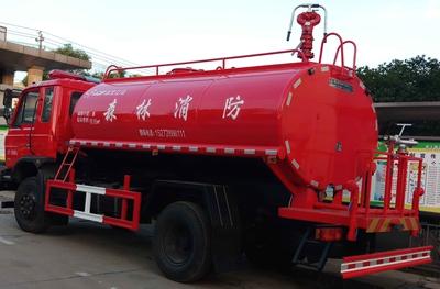 东风国五10吨消防洒水车降价——湖北江南汽车厂家感恩惠利