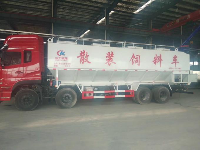 东风天龙20吨散装饲料运输车价格饲料运输车