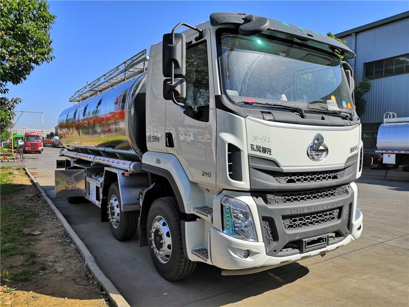 鋁合金運油車價格_東風柳汽小三軸15噸20噸鋁合金油罐車多少錢
