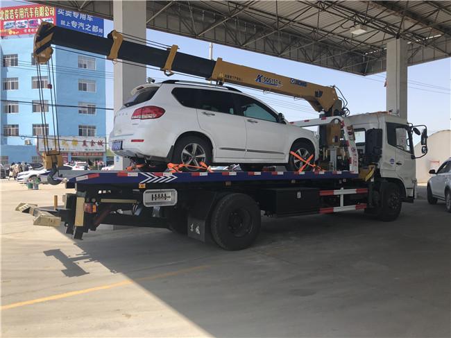 6.3吨一拖二东风天锦随车吊带清障配置及报价