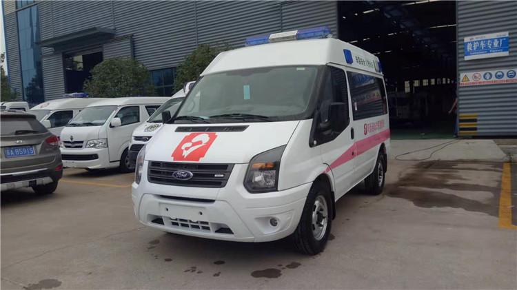 江铃福特v348短轴运输型救护车配置_救护车价格