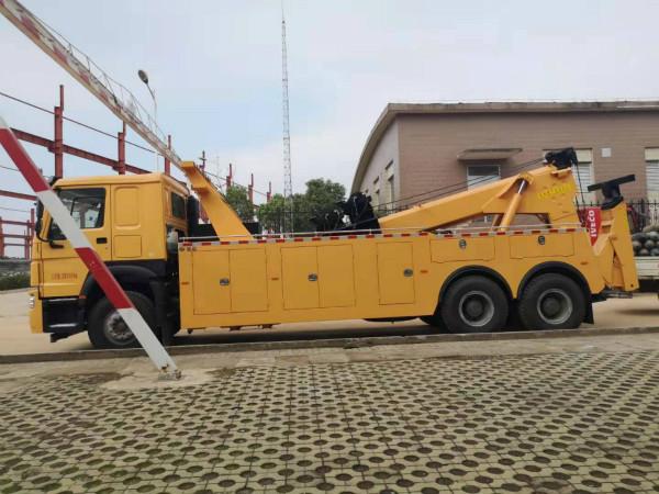 16吨重汽豪沃后八轮托吊连体清障车配置
