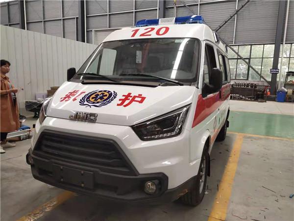 一對一講解:江鈴特順短軸中頂救護車定制版運輸型