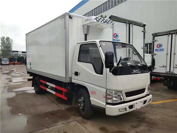 深圳上户江铃顺达窄体冷藏车带DPF国五车型最低价格