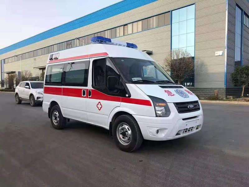 国五江铃福特短轴监护型救护车顺利交车_福特救护车发往云南普洱