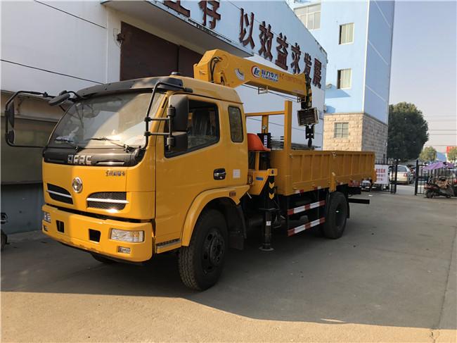 东风福瑞卡随车吊上黄牌配6.3吨吊机保证不超重