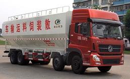 东风天龙40方散装饲料运输车,养殖致富好帮手!