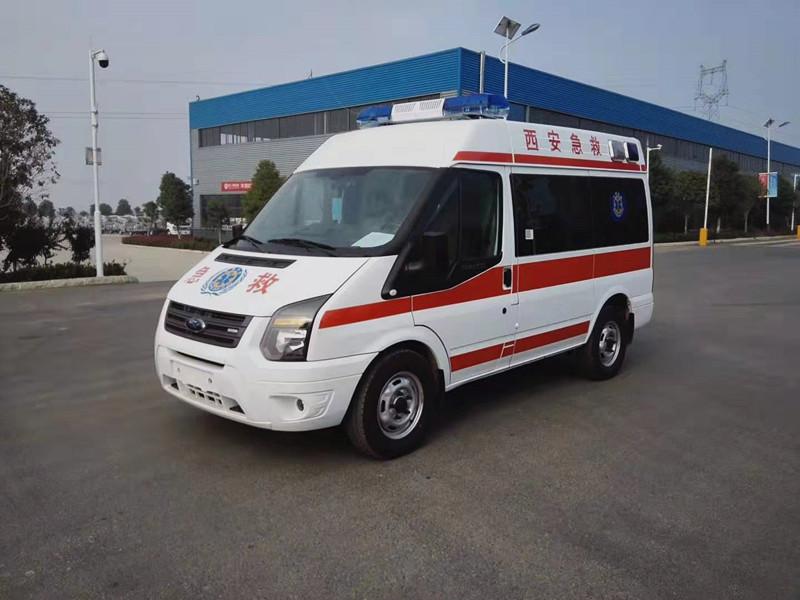 国六江铃348短轴监护型救护车价格_江铃救护车厂家