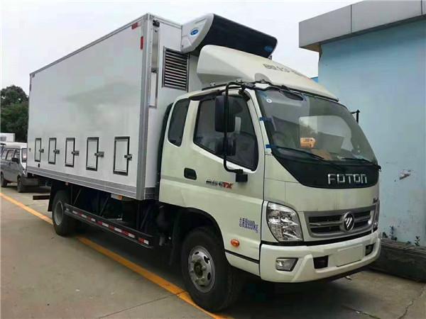 福田奥铃5.1米厢长鸡苗车生产厂家-雏禽运输专用车价格