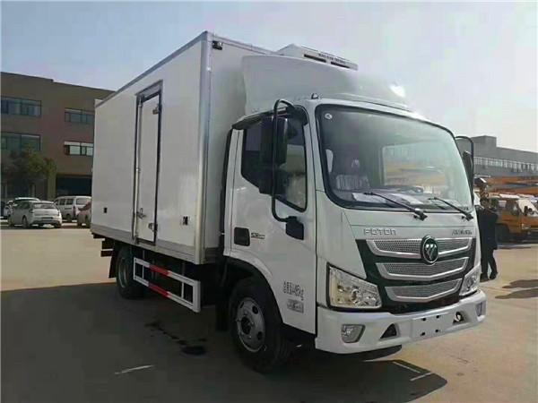 福田欧马可S3活虾冷藏运输车,连云港海鲜运输车