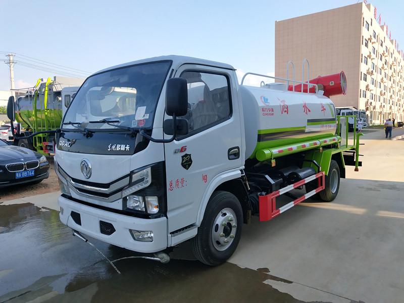 国六5吨东风多利卡洒水抑尘车配置_图片_厂家|视频