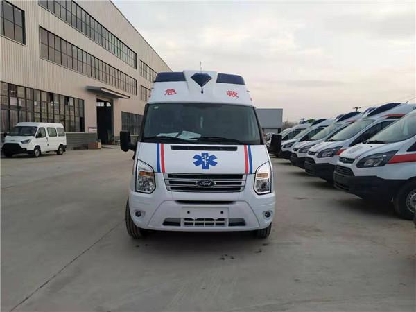 国六福特v348长轴高顶救护车厂家——江铃福特v348救护车价格