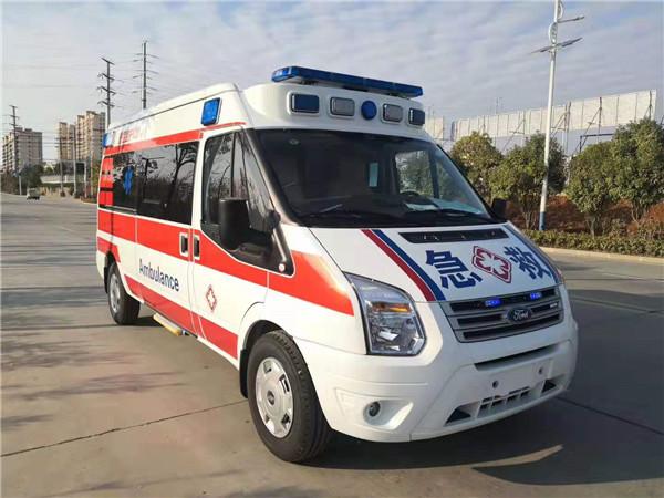 江鈴福特V348長軸中頂國六救護車