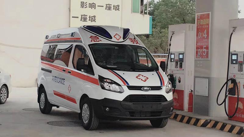 江铃福特国六救护车配置_江铃中轴中顶监护型救护车报价_江铃救护车厂家