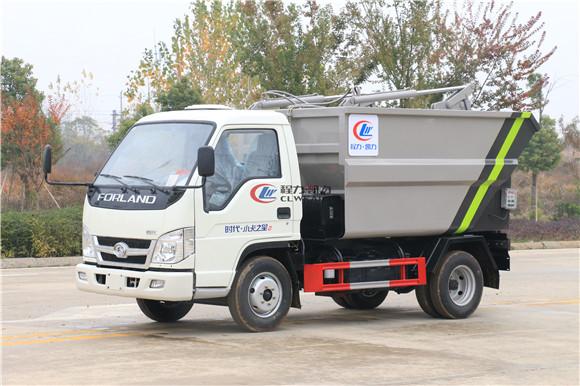 藍牌后裝濕垃圾轉運車——福田小卡3立方自裝卸垃圾車