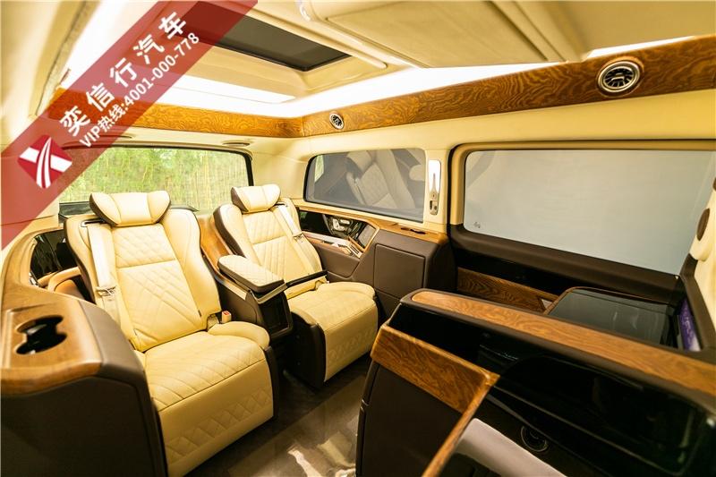 杭州 上海 CEO出行顶级奔驰商务车哪里买 奕信行房车 奔驰V级IDG设计维努斯系列版本4座车型图片与报价
