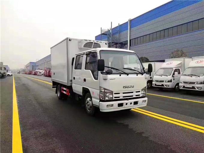 五十铃双排座冷藏车价格表-3.2米厢式双排座冷藏车蓝牌C照冷藏车