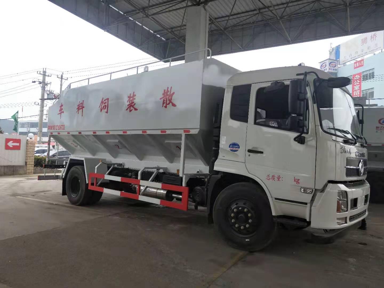 厂家东风天锦10吨,11吨散装猪饲料车,14吨,15吨鸡饲料车
