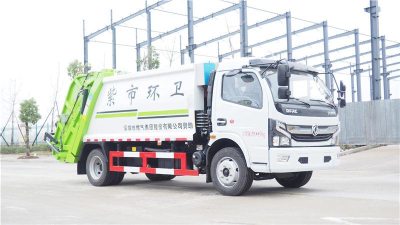 國六東風凱普特壓縮垃圾車配置_圖片_價格