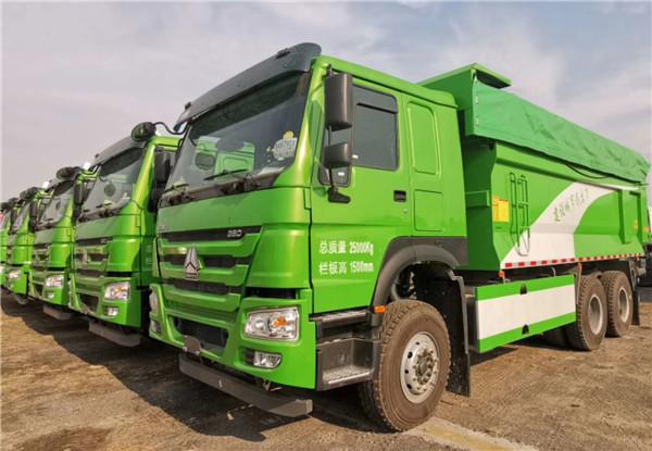 380马力豪沃6X4驱动6米车厢自卸车
