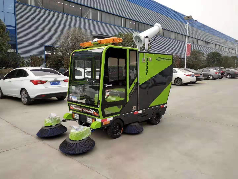 新能源電動四輪強力智能清潔車(帶霧炮 帶清洗)