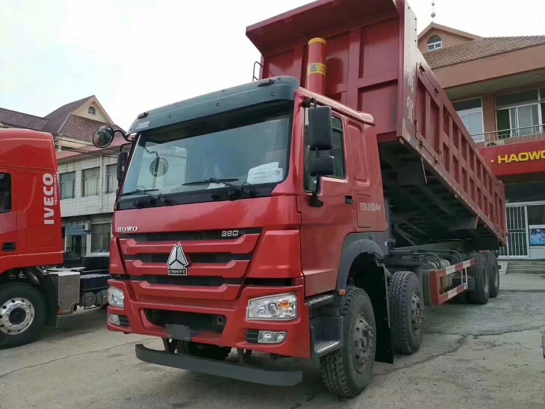 豪沃8米5自卸車8x4驅動