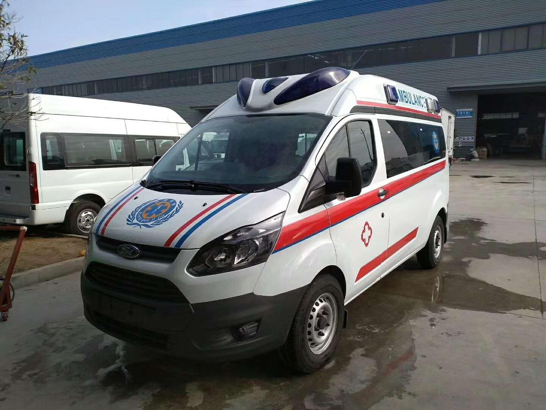 江铃福特V362长轴中顶救护车-负压救护车带担架隔离舱