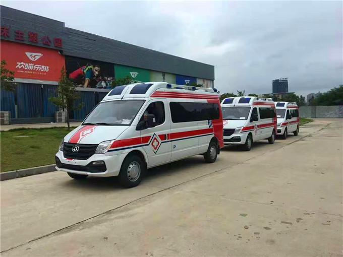 國六柴油救護車-上汽大通V80急救車-監護型救護車