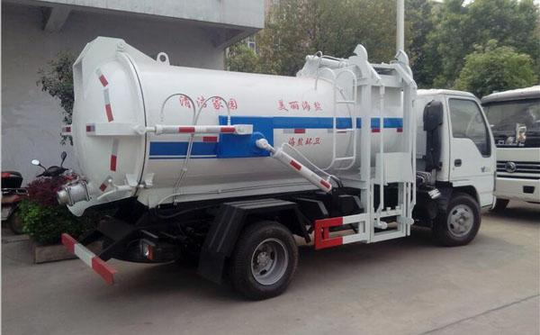 5方國六推鏟式方形慶鈴五十鈴餐廚泔水垃圾車全新上市熱銷