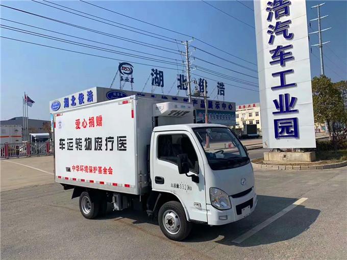 國六排放醫療廢物運輸車-3米廂體躍進小福星醫療垃圾車
