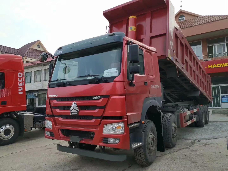 豪沃380马力8米半自卸车